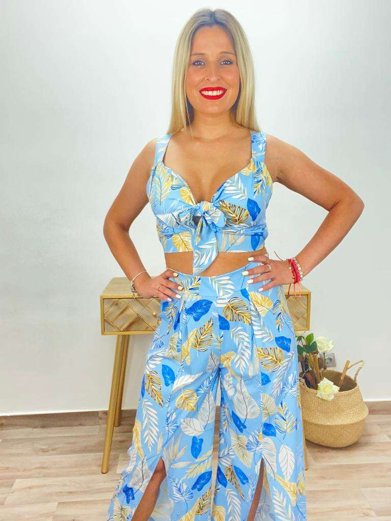 posat divina Conjunto hawaiano azul