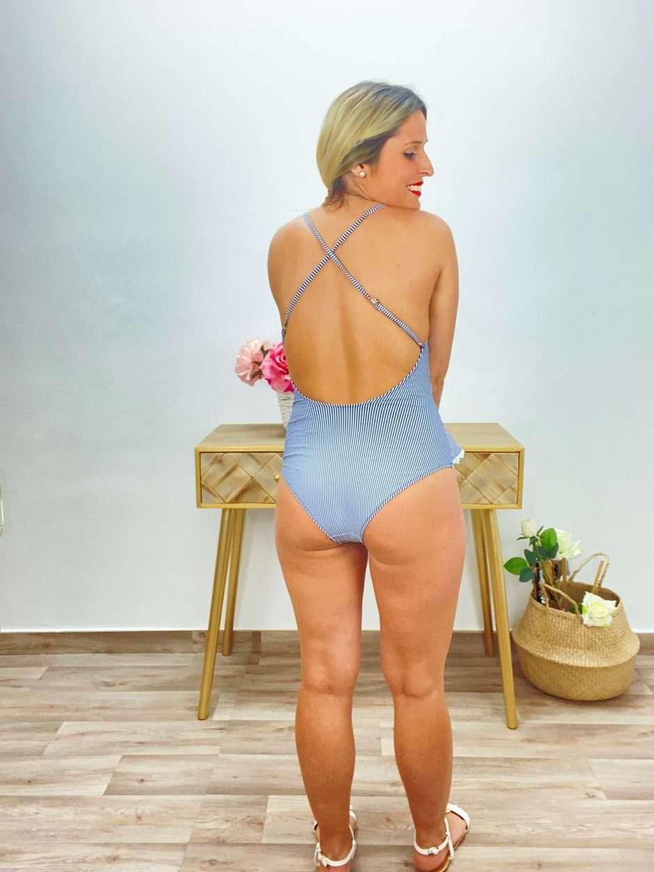 posat divina bañador rayas azul