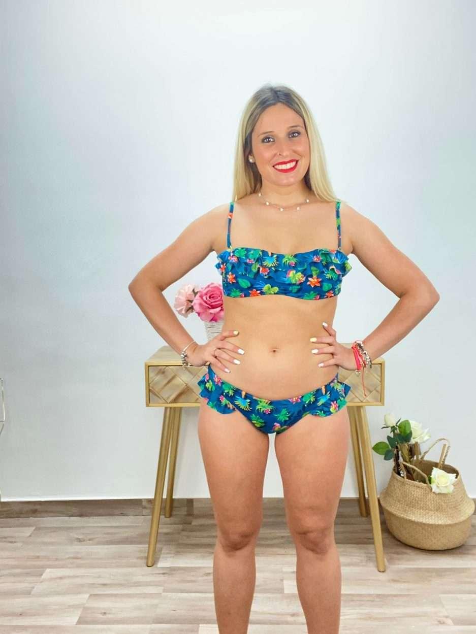 posat divina bikini azul flores