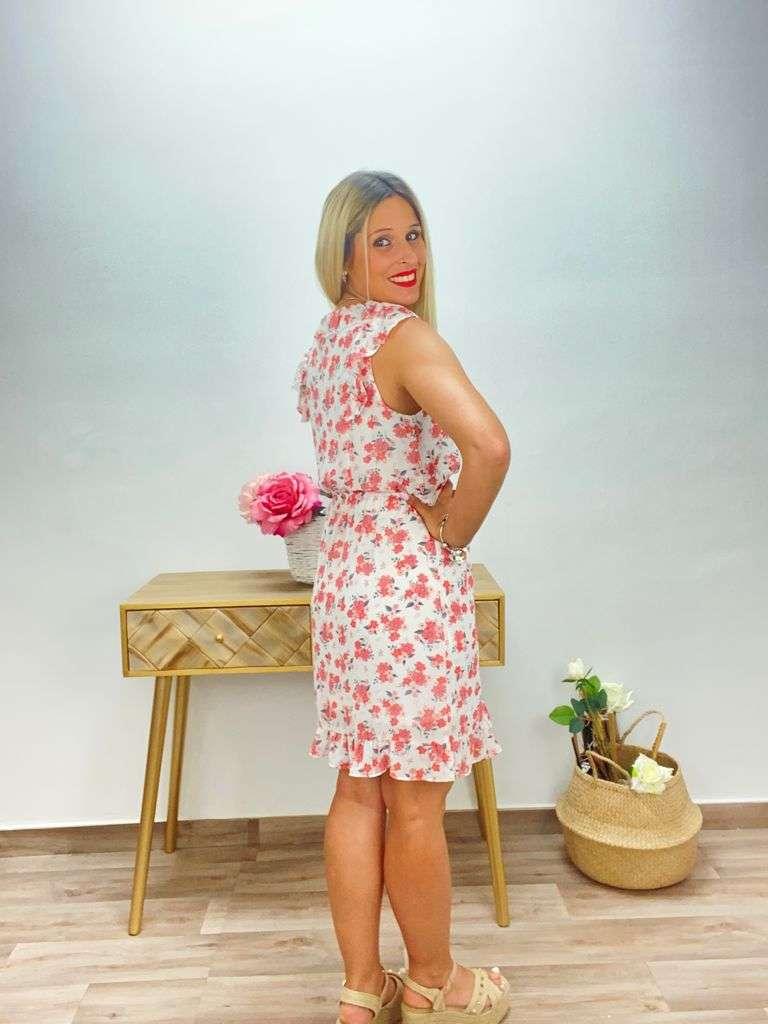 posat divina vestido floral blanco