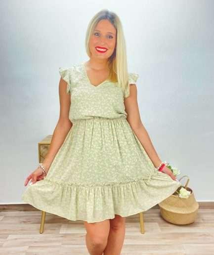 posat divina vestido margaritas verde