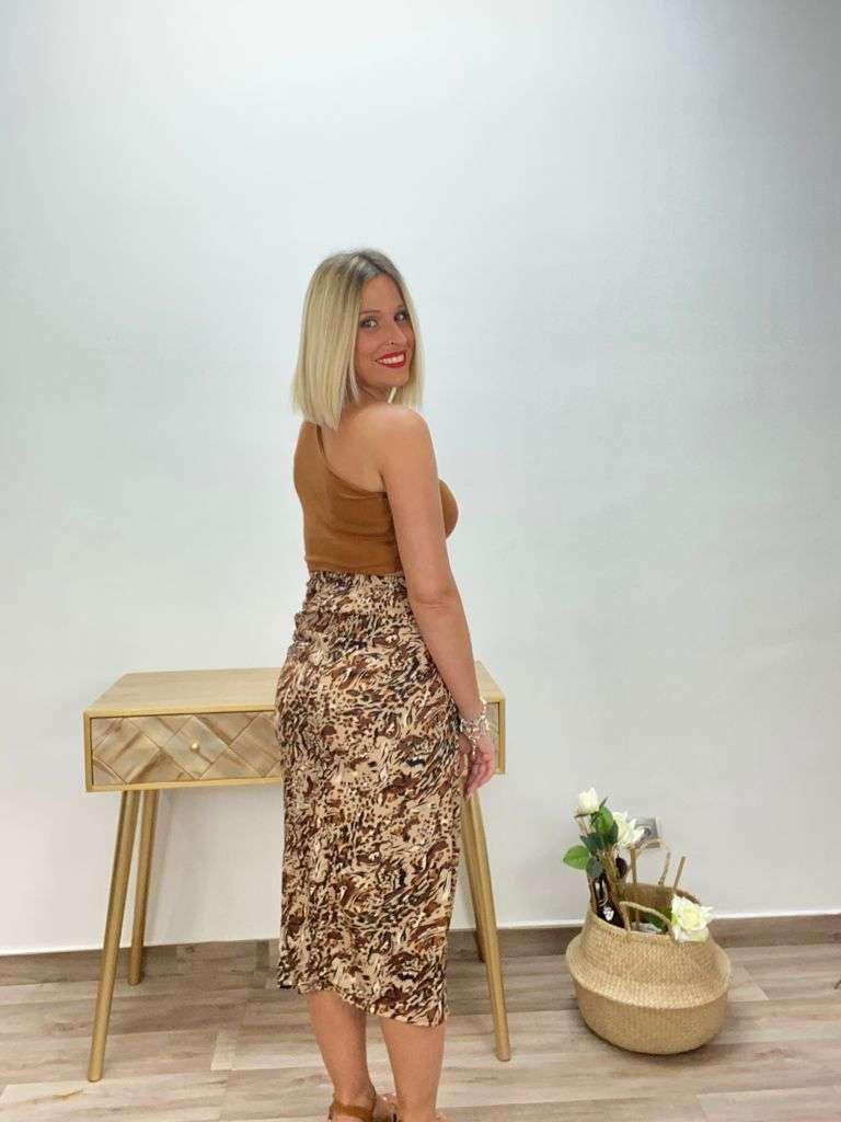 posa't divina falda larga animal print 5